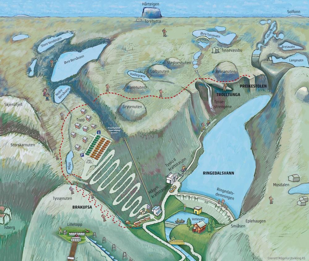 kart over trolltunga Trolltunga Maps: Trolltunga road kart over trolltunga